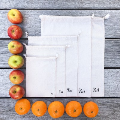 Reusable Natural Cotton Bags (Team of 5) Image