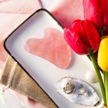 Rose Quartz Gua Sha facial massage crystal