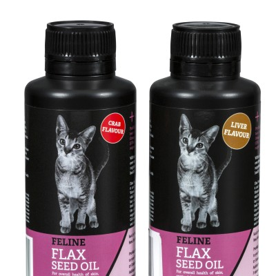Feline Flax Seed Oil 150ml – Crab or Liver Image