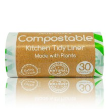 Extra Thick Compostable Kitchen Tidy Liner 27L-30 Bags Image