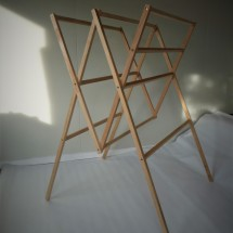 Recycled wood folding drying rack - the R1