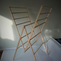 Recycled Wood Folding Drying Rack - the R2