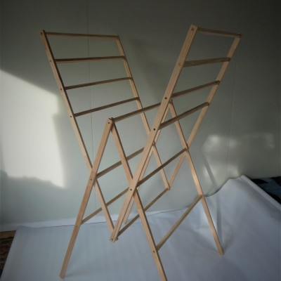 Recycled Wood Folding Drying Rack – the R2 Image