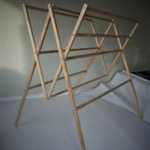 Recycled wood folding drying rack - the R3