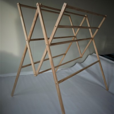 Recycled wood folding drying rack – the R3 Image