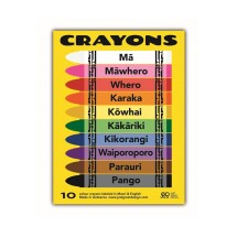 CRA001 - Crayons - Colours in Maori and English