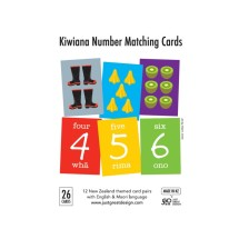 FLA001 Flash Cards - Kiwiana Number Matching Cards