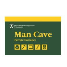 WOO001 Wooden Sign - Man Cave A5