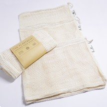 Cotton Produce Mesh Bags - 3 Pack (Organic)