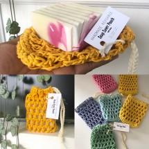 Handmade Reusable Soap Saver Pouch/Soap Holder Bag