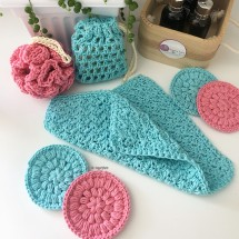 Hand crocheted Luxury Spa | Bath Gift Set 3
