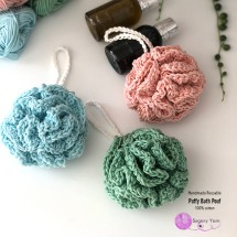 Hand Crocheted Reusable Bath Pouf
