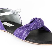 Purple Knotted Sandals  - Hand Made Image