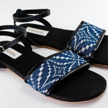 Hand Made Wrap Around Sandals -Blue