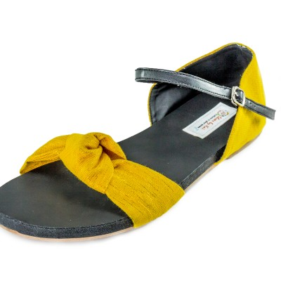 Yellow Knotted Sandals – Hand Made Image