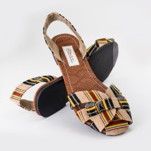 Slip On Weaved Sandals In Multi Colour - Hand Made Image