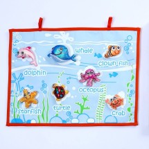 SEA CREATURES FABRIC WALL CHART Image