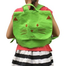 GREEN CAT BACKPACK