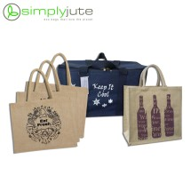Re-usable Jute Shopping Set (with Cooler bag) - 5 Pcs