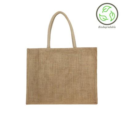 Natural Foldable Jute Shopping Bag – 100% Biodegradable Image