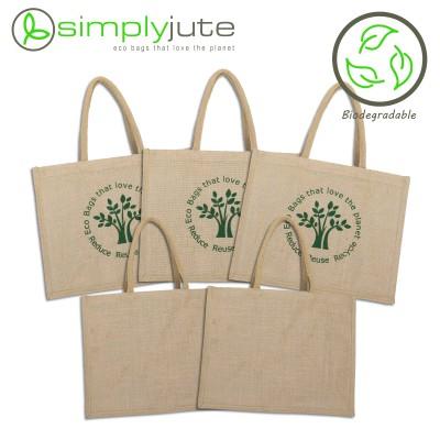 Natural Jute Shopping Bag – 5 Set- 100% Biodegradable Image