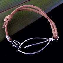 Eco Silver 2 Leaves Unisex Bracelet
