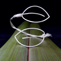 Eco Silver 2 Leaves Adjustable Cuff