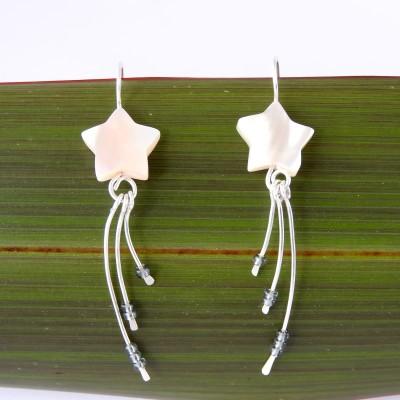 Wishing Star Eco Silver Earrings Image
