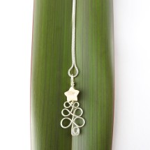Christmas Tree Eco Necklace with Ivory Star