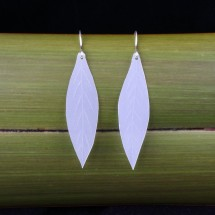 Repurposed Milk Bottle Leaf Earrings + Eco Silver hooks