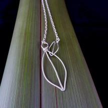 Eco Silver 2 Way Leaf Lariat Necklace