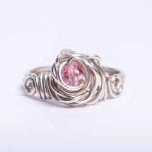 Rose Ring with Swarovski Crystal