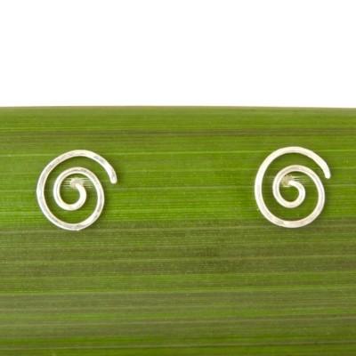 Round Spiral/ Koru Stud Earrings Image