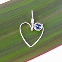 Koru Love Heart Pendant with Swarovski Crystal