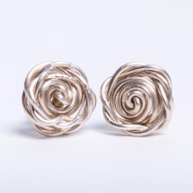 Rose Stud Earrings in Recycled Sterling Silver
