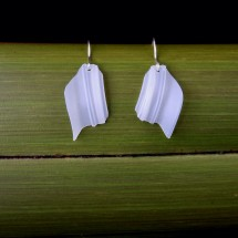 Repurposed Milk Bottle Wing Earrings + Eco Silver Hooks