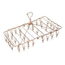 Stainless Steel Foldable Peg Hanger - Rose Gold Image