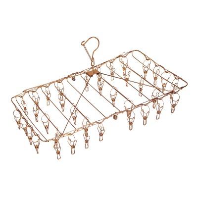 Stainless Steel Foldable Peg Hanger – Rose Gold Image