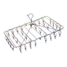 Stainless Steel Foldable Peg Hanger - Rainbow Image