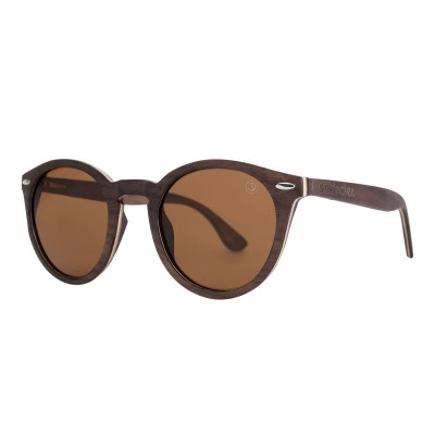 Wooden Sunglasses – Goin' Round – Brown Lens Image
