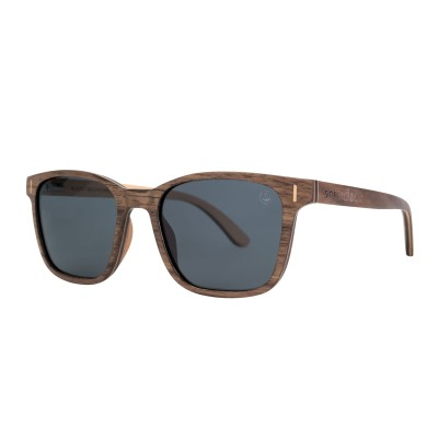 Wooden Sunglasses – Shield – Grey Lens Image