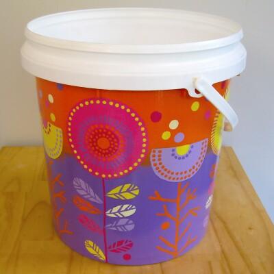 Planter Pot – Purple & Orange Image