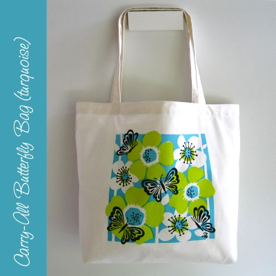 Carry-all Butterfly Bag (turquoise) Image