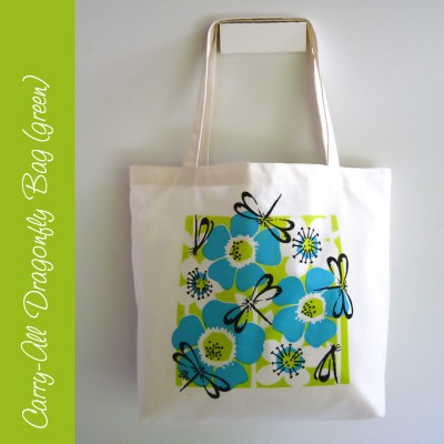Carry-all Dragonfly Bag (green) Image