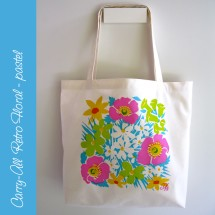 Carry-all Floral Bag - pastel