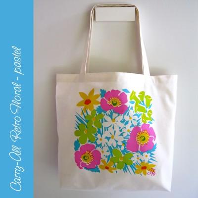 Carry-all Floral Bag – pastel Image