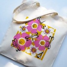 Eco Art Bag - Dragonfly (pink)