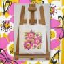 Eco Art Bag – Dragonfly (pink) Image
