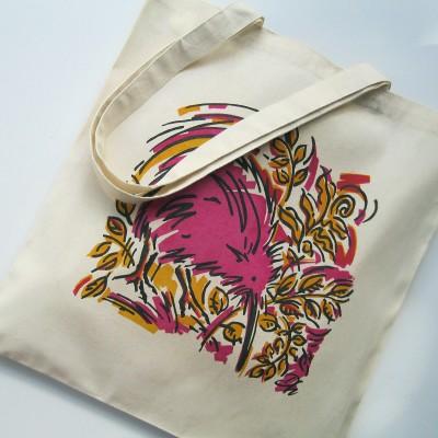 Eco Art Bag – Kiwi (pink) Image