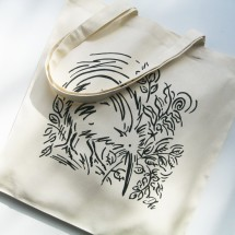 Eco Art Bag - Kiwi (white)